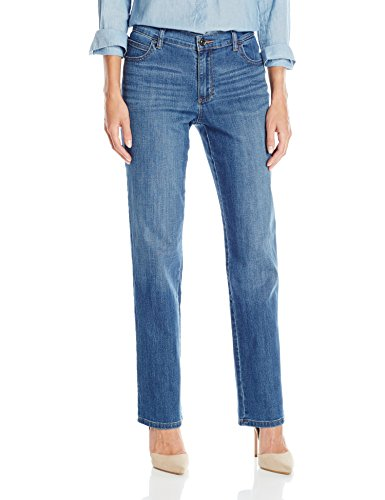 LEE Women's Relaxed Fit Straight Leg Jean, Meridian, 10 Long