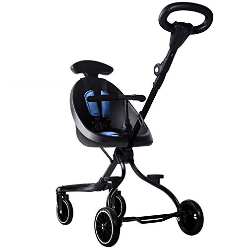 Baby Stroller, Slippery Artifact Trolley, Foldable, Lightweight, Two-Way Stroller, with Four-Wheeled Children's Baby…