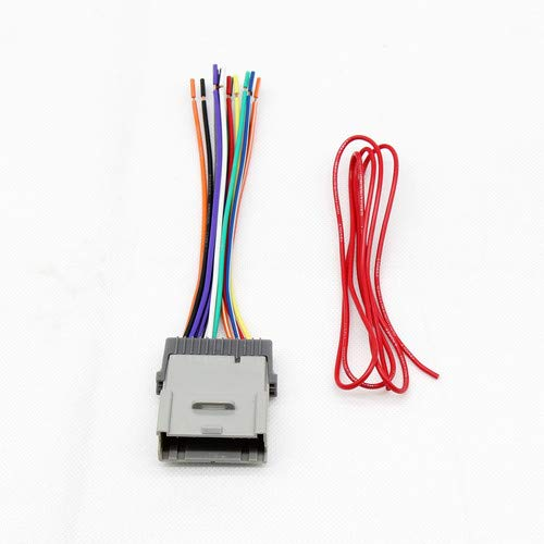 RED WOLF Replacement Stereo Radio Wiring Harness Connector for Select GM Chevy GMC 2000-2012 Model (96 Chevy Wiring Harness)