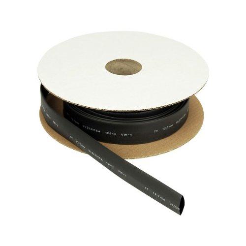 gaestopas –  Gaine Thermoré tractable 12, 7 mm Noir Box 8 m 7mm Noir Box 8m TT0127.NG.C