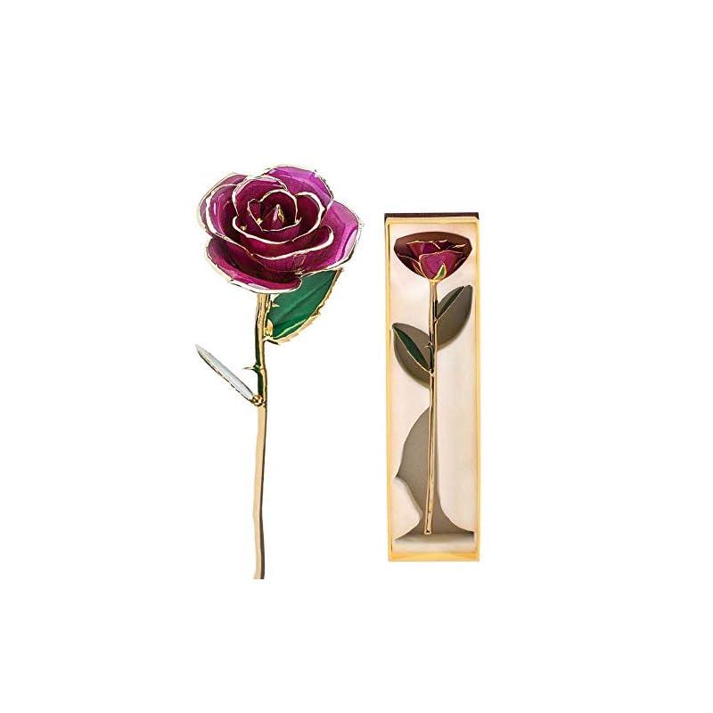 silk flower arrangements 24k gold rose, long stem dipped flower gift for her, made of fresh rose, last forever mother's/thanksgiving/christmas/valentine's/birthdays party/graduations/weddings (#2)
