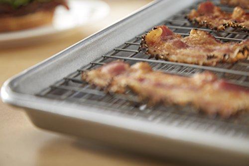 USA Pan 1607CR Bakeware Extra Large Sheet Baking Pan and Bakeable Nonstick Cooling Rack Set, XL Metal by USA Pan (Image #2)