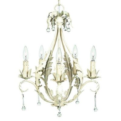 Jubilee Collection 7703 5 Arm Caesar Chandelier, Antique Ivory (5 Caesar Collection)