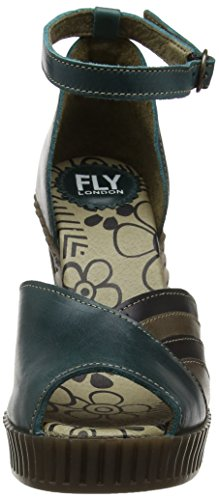 Fly Grey Al Mujer Azul Atado Gami906fly para London 001 Black FLYA4 Tobillo Petrol dvIRBd