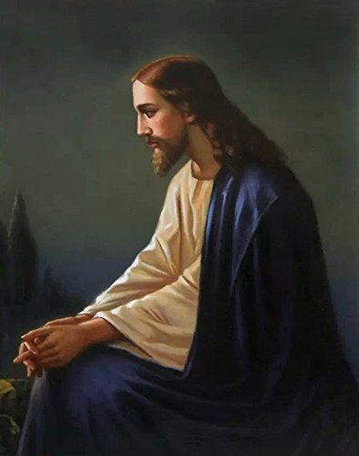 Portrait of Jesus Christ hand-painted oil painting reproduction,Religion Art,Home Wall Art Decoration,Church Art decor canvas (36 x 30 in.) by Various Artists