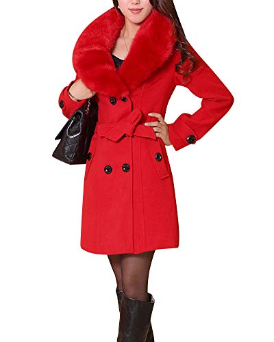Donne Rosso Vento Quge Manica Giacca Eleganti Cappotto Lungo Cardigan Lunga A FYgdqvY