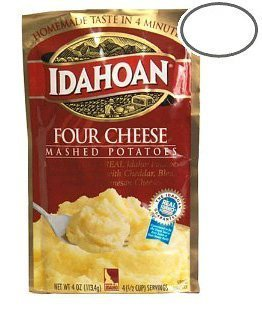 Idahoan Four Cheese Mashed Potatoes 4 oz (Pack of 12)
