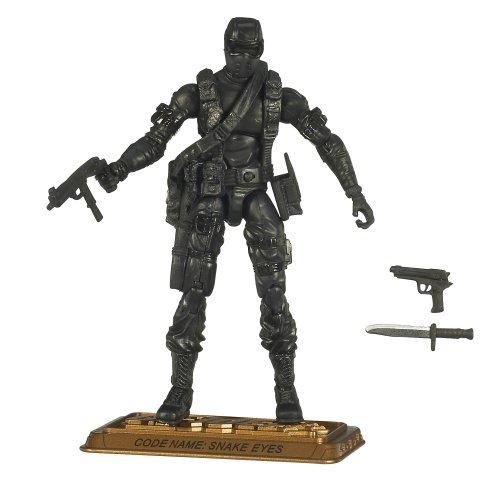 GI Joe 25th Anniversary Hall of Heroes - Snake Eyes In All Black - Heroes Snake Eyes