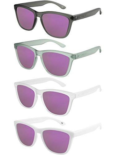 miroir paires de homme Vintage lunettes Nerd Rétro lilas Lot femme CRUZE® unisexe Style de de Y soleil 4 Set hommes polarisées femmes X w4HqIS