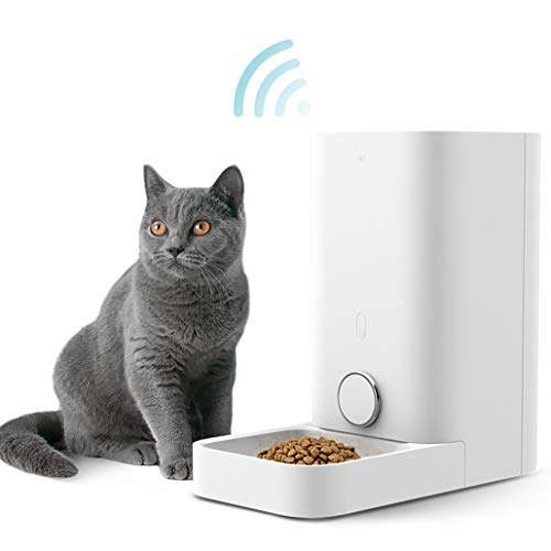 PETKIT Smart Feed Automatic Cat Feeder, Wi-Fi Enabled Pet Feeder for Cats and Small Dogs, Smartphone App for iOS and Android, Work with Alexa, Portion Control, Timer Programmable, Fresh Lock System