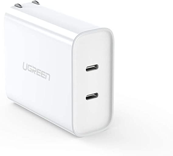 Amazon Com Ugreen Usb C Charger 2 Port 36w Power Delivery Type C