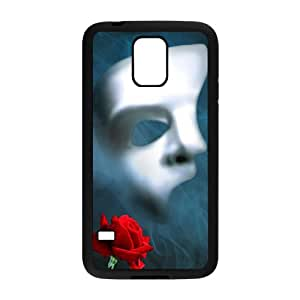 Rose And Mask Design Plastic Case Cover For Samsung Galaxy S5