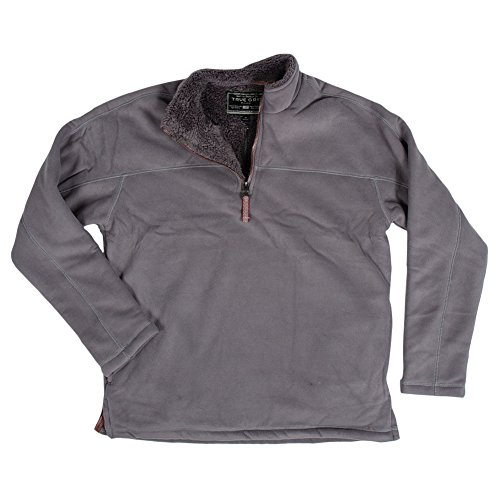 True Grit  Men's Bonded Polar Fleece and Sherpa 1/4 Zip Pullover Harley Black (Bonded Fleece Pullover)