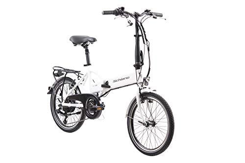 F.lli Schiano E- Sky, Bicicletta elettrica Pieghevole Unisex Adulto, Bianca, 20'' 2 spesavip