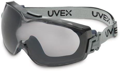 1215B92EA Navy Body Dura-stream Dual Anti-fog//Anti-scratch Logoed Fabric Headband UVEX by Honeywell 763-S3970DF Stealth OTG Goggle Clear Lens Coating Honeywell International Inc