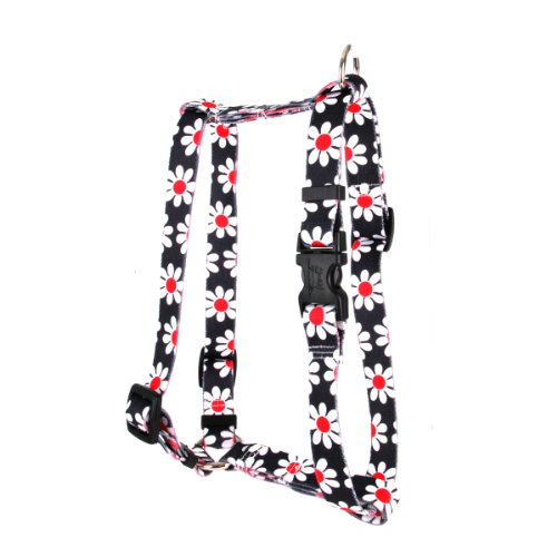 - Yellow Dog Design Pet Harness, Small/Medium, Black Daisy