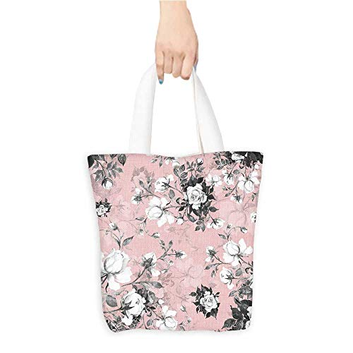 cf5add6f299d Eco-Friendly Canvas Bags Roses in bu tfor Decoration Design Easy to  All-Match W16.5 x H14 x D7 INCH
