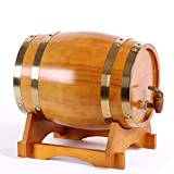 LHome American Oak Aging Barrel Age Your Own Tequila, Whiskey, Rum, Bourbon, Wine 1.32 Gallons Hotel Family Wine Barrel 3L/5L/10L/20L (Color : Style E, Size : 20L)