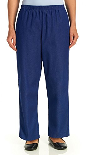 Alfred Dunner Women's Petite Classics Denim Pants - Short Length, Denim, 14P by Alfred Dunner