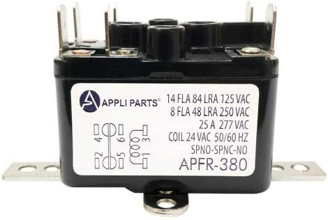 SPNO//SPNC 24V Coil WHITE RODGERS 90-380 Fan Relay-Type 184