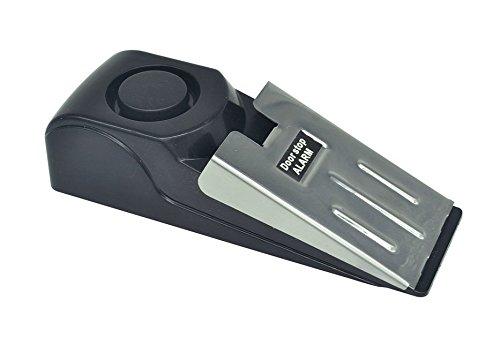 schwarz ulooie Sicherheit Wedge T/ürstopper Alarm System f/ür Home