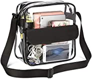 Clear Crossbody Bag - Stadium Approved,for Work & Business Travel for Men & Women Gym Clear Shoulder T