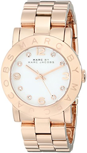 al Rose Gold-Tone Stainless Steel Ladies Watch MBM3077 (Marc By Marc Jacobs Gifts)