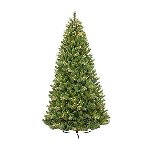 Puleo International 7.5-Foot Pre-Lit Teton Pine with 600 UL Clear Lights Artificial Christmas Tree ()