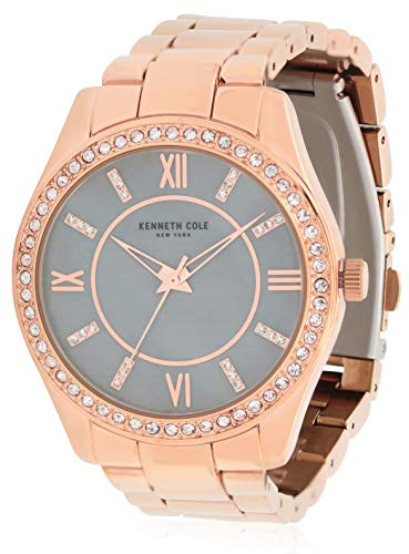Kenneth Cole New York Women's 'Classic' Quartz Stainless Steel and Alloy Watch, Color:Rose Gold-Toned (Model: KC50739001