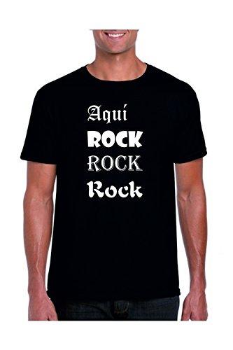 Camisetas divertidas Parent Aquí Rock Rock Rock - Para Hombre Camiseta: Amazon.es: Ropa y accesorios