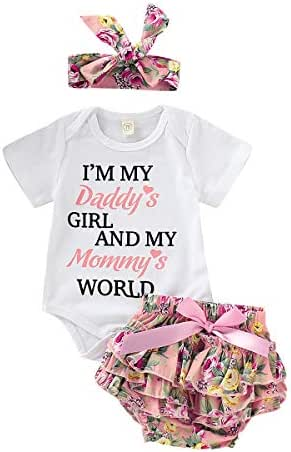 Toddler Baby Girls Clothes 2Pcs Flower Ruffle T-Shirt+ Ripped Jeans Denim Pants Outfits Sets