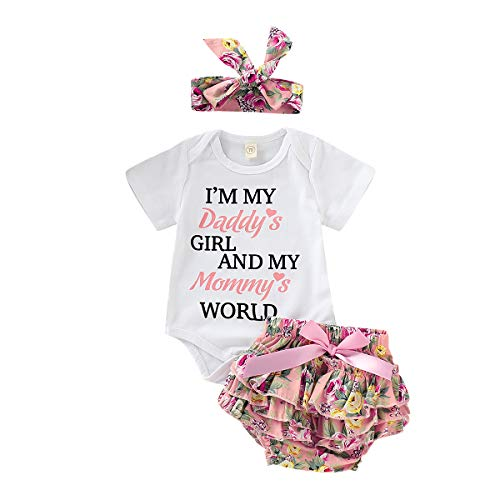 Toddler Baby Girls Clothes 2Pcs Flower Ruffle T-Shirt+ Ripped Jeans Denim Pants Outfits Sets White-top(3-6Months)