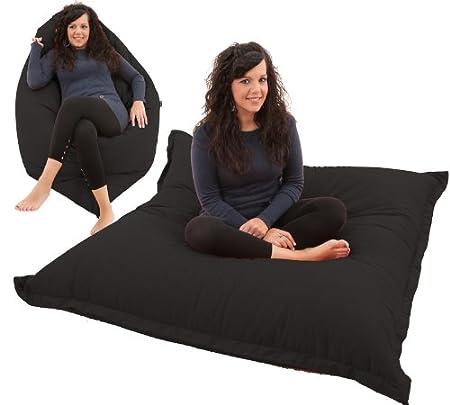 RAVIOLI GIANT   Bean Bag Chair Beanbag Floor Cushion (Black)