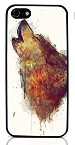 Wolf Animal Hard Case for Apple iPhone 5/5S ( Sugar Skull )