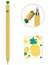 AhaStyle Silicone Case Sleeve Fruit Design Soft Protective Cover Accessories Compatible with Apple Pencil 1st Generation (Yellow)