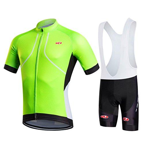 - FASTCURE Pro Team Men's Short Sleeve Cycling Jersey and 3D Padded Bib Shorts Set Size XXl