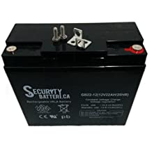SECURITY BRAND OR SIMILAR REPLACEMENT FOR 12 VOLT 21AH PSH-12180NB-FR Sealed lead acid AGM Gel cell BATTERY