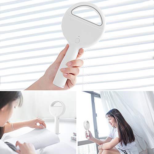Yobenki Portable Fan, Bladeless Handheld Fan 100% Safe USB Fan Mini Personal Fan Rechargeable Table Fan Desk Fan Perfect for Kids & Adults (White)