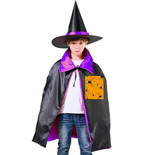 One of my Black Spider Halloween Shawl and Witch Hat for Children Kids Purple -