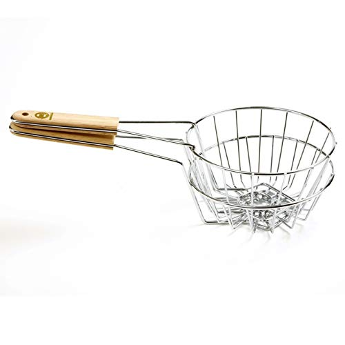 Fryer Basket Bird's Nest Taco Salad Bowl Fry Chips for Home & Restaurant Deep Fry Compact ()