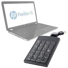DURAGADGET Retractable USB Laptop NumPad Attachment for HP Pavilion 15-n221sa 15.6 Inch 8GB 1TB Laptop / HP Pavillion AMD A6 15.6 inch 4GB 750GB Laptop / HP 14-q010sa 16GB DataPass Chromebook - White/Peach/Turquoise