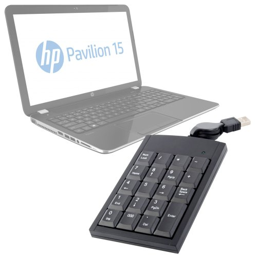 DURAGADGET Retractable USB Laptop NumPad Attachment for HP Pavilion 15-n221sa 15.6 Inch 8GB 1TB Laptop / HP Pavillion AMD A6 15.6 inch 4GB 750GB Laptop / HP 14-q010sa](Hp Pavilion Amd A6 Charger)