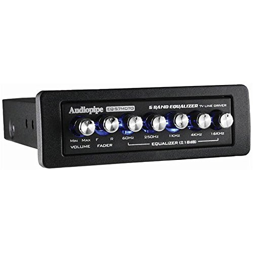 5 Band Graphic Equalizer 7 Volt Line Driver Flush Mount Mobile Audio EQ-57MOTO