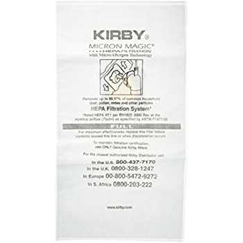 kirby micron magic hepa filtration with technology vacuum bags pack of 6
