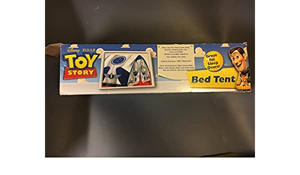 Amazon.com Disney/Pixar Toy Story Nylon Twin Bed Tent and Matching flashlight for Kids Holds 1 Person Only - Blue Toys u0026 Games  sc 1 st  Amazon.com & Amazon.com: Disney/Pixar Toy Story Nylon Twin Bed Tent and ...