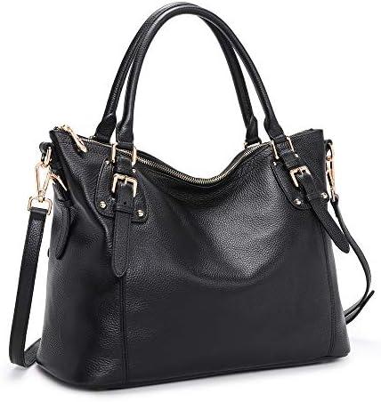 Kattee Women's Genuine Leather Handbags Shoulder Tote Organizer Top Handles Crossbody Bag Satchel Designer Purse