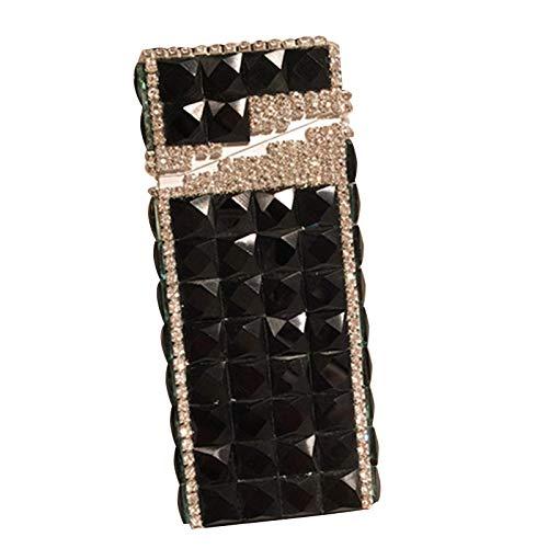 YYY Cigarette Case - Creative Gift Rhinestone Cigarette Case - Studded Slender Automatic Bobbin Case - Long Ladies Full Diamond Case,C,114.82.5cm (Diamond Cigarette)