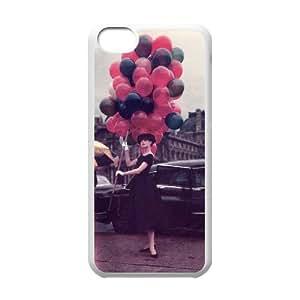 C-EUR Print Audrey Hepburn Pattern Hard Case for iPhone 5C