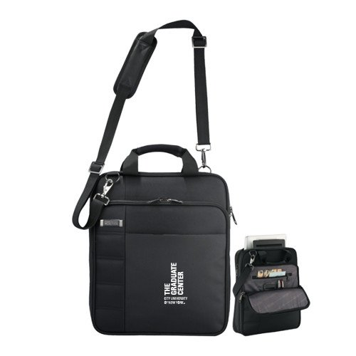 CUNY Graduate Center Kenneth Cole Black Vertical Checkpoint Friendly Messenger 'Official Logo' by CollegeFanGear