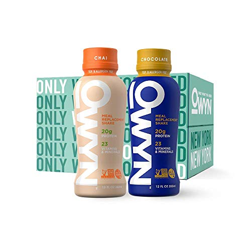 OWYN, Vegan Meal Replacement Shake, Variety,12 Fl Oz (Pack of 4), 100-Percent Plant-Based, Dairy-Free, Gluten-Free, Soy-Free, Tree Nut-Free, Egg-Free, Allergy-Free, Vegetarian, Kosher ...